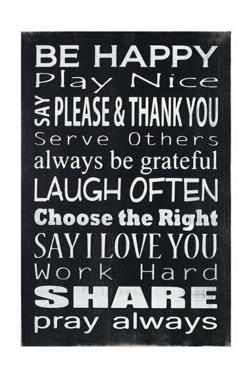 Be Happy-Holly Stadler-Art Print
