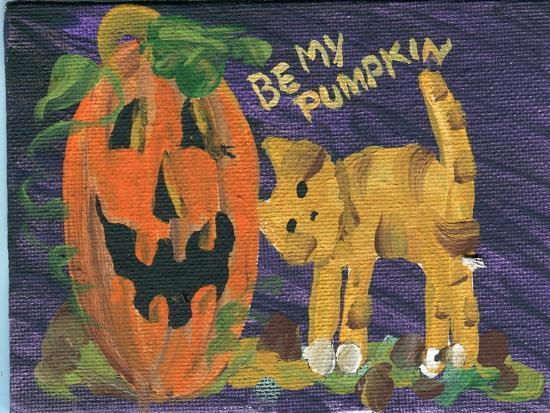 Be My Pumpkin Halloween-sylvia pimental-Art Print