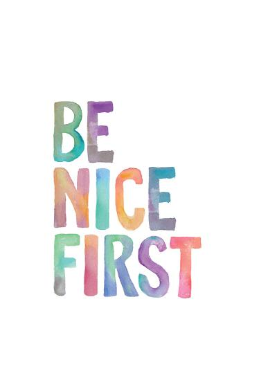 Be Nice First-Brett Wilson-Art Print