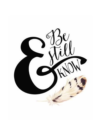 Be Still and Know Feather-Tara Moss-Art Print