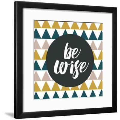 Be Wise-Aubree Perrenoud-Framed Art Print