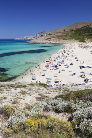 Beach and Bay of Cala Mesquita, Capdepera, Majorca (Mallorca)-Markus Lange-Photographic Print