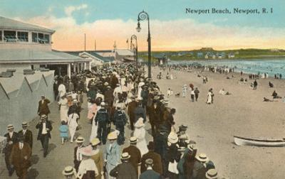Beach and Boardwalk, Newport, Rhode Island