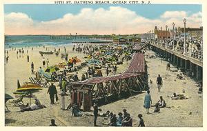 Beach and Boardwalk, Ocean City, New Jersey