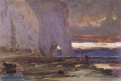 Beach and Cliffs, 19th Century-Edwin Ellis-Giclee Print