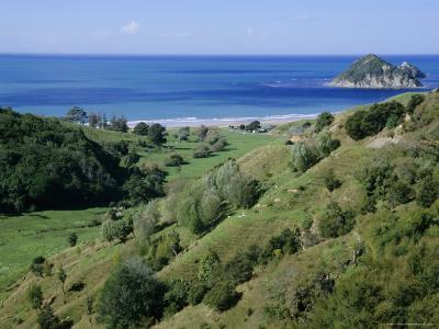 Beach and Coast, Tokomaru Bay, Gisborne, East Coast, North Island, New Zealand, Pacific-D H Webster-Photographic Print