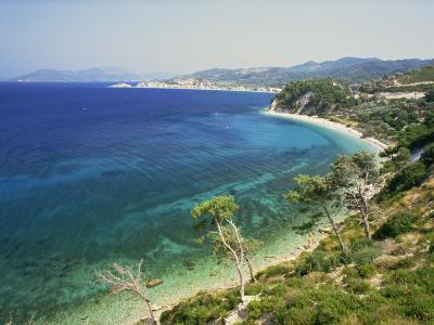 Beach and Coastline Near Kokkari, Samos, Dodecanese Islands, Greek Islands, Greece, Europe-David Beatty-Photographic Print
