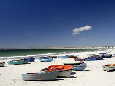 Beach and Fishing Boats, Paternoster, Western Cape, South Africa, Africa-Peter Groenendijk-Photographic Print