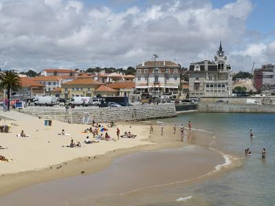 Beach and Harbour, Cascais, Portugal, Europe-Wogan David-Photographic Print