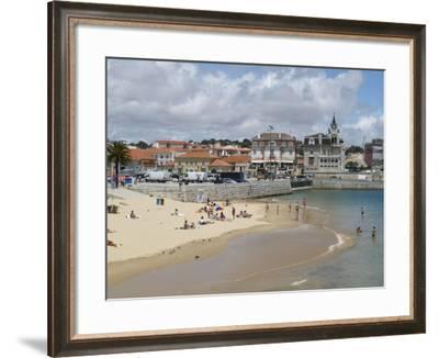 Beach and Harbour, Cascais, Portugal, Europe-Wogan David-Framed Photographic Print