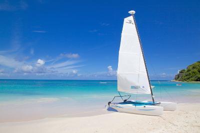 Beach and Hobie Cat, Long Bay, Antigua, Leeward Islands, West Indies, Caribbean, Central America-Frank Fell-Photographic Print