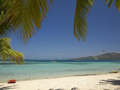 Beach and Palm Trees, Plantation Island Resort, Malolo Lailai Island, Mamanuca Islands, Fiji-David Wall-Photographic Print