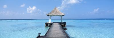 Beach and Pier the Maldives--Photographic Print