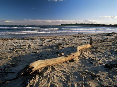 Beach and Sea at Dusk, Alnmouth, Northumberland, England, United Kingdom-Lee Frost-Photographic Print