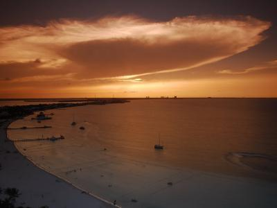 Beach and Skyline of Cancun at Sunset-Raul Touzon-Photographic Print