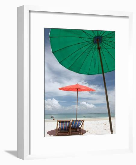 Beach and Tourists, Samed Island, Rayong, Thailand-Gavriel Jecan-Framed Photographic Print