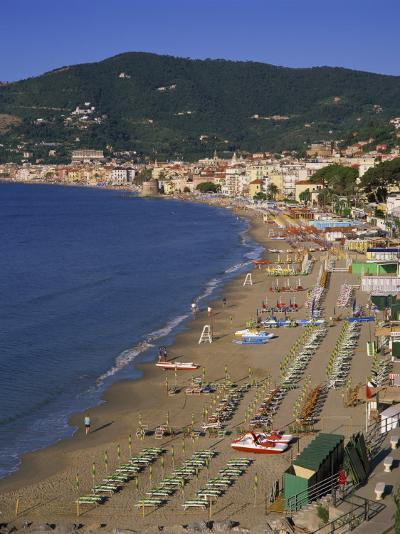 Beach and Town, Alassio, Italian Riviera, Liguria, Italy, Europe-Gavin Hellier-Photographic Print