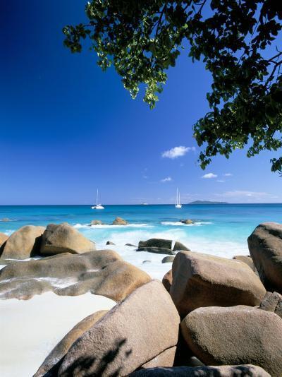 Beach, Anse Lazio, Island of Praslin, Seychelles, Indian Ocean, Africa-Lee Frost-Photographic Print