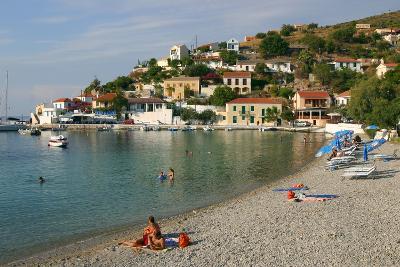 Beach, Assos, Kefalonia, Greece-Peter Thompson-Photographic Print