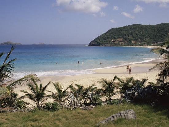 Beach at Anse Des Flamands, St. Barthelemy, Lesser Antilles, Caribbean, Central America-Ken Gillham-Photographic Print