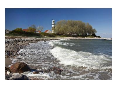 Beach at Buelk Lighthouse, Strande, Schleswig-Holstein, Germany--Art Print