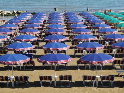 Beach at Cattolica, Adriatic Coast, Emilia-Romagna, Italy, Europe-Hans Peter Merten-Photographic Print