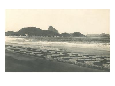 Beach at Copacabana--Art Print