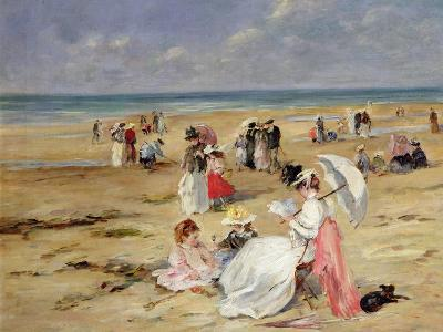Beach at Courseulles-Henri Michel-Levy-Giclee Print