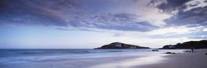 Beach at Dusk, Burgh Island, Bigbury-On-Sea, Devon, England