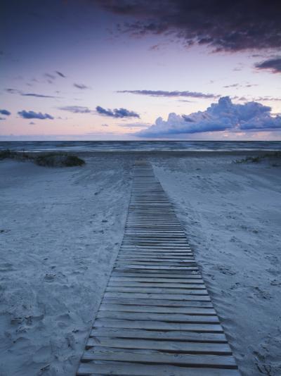 Beach at Dusk, Liepaja, Latvia-Ian Trower-Photographic Print