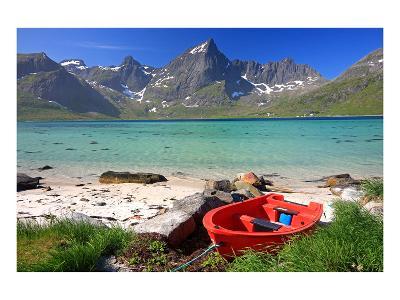 Beach at Flakstadpollen, Flakstadoya Island, Lofoten Islands, Norway--Art Print