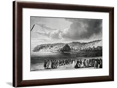 Beach at Korora-Reka-Cyrille Pierre Theodore Laplace-Framed Giclee Print