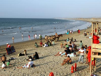 Beach at Mancora, a Popular Playground for Peruvians and Foreign Tourists-Paul Kennedy-Photographic Print