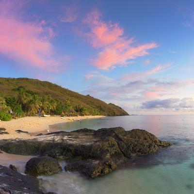 Beach at Octopus Resort at Sunset, Waya Island, Yasawa Islands, Fiji-Ian Trower-Photographic Print