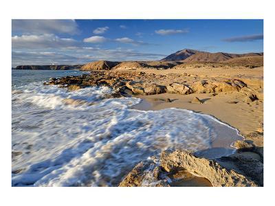 Beach at Playa Papagayo near Playa Blanca, Lanzarote, Canary Islands, Spain--Art Print