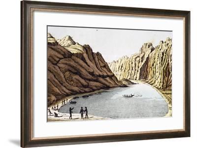 Beach at Port Tsitschagoff on Island of Nuku Hiva, Marquesas Islands Archipelago-Adam Johann Von Krusenstern-Framed Giclee Print