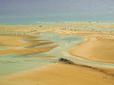 Beach at Resort of Barneville Carteret, Cote De Nacre, Cotentin Peninsula, Manche, Normandy, France-David Hughes-Photographic Print