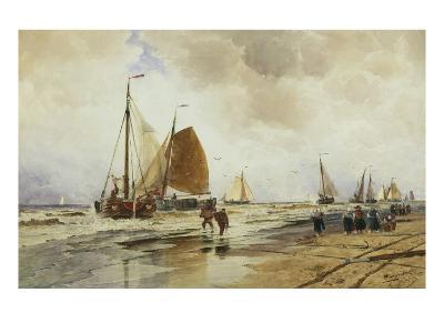 Beach at Schevingen, Holland-Thomas Hardy Bush-Giclee Print