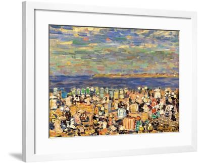 Beach at St. Malo, C. 1907-Maurice Brazil Prendergast-Framed Giclee Print