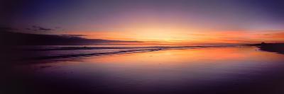 Beach at Sunrise, Papamoa Beach, Bay of Plenty, North Island, New Zealand--Photographic Print