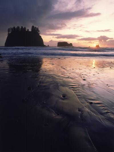 Beach at Sunset, La Push, WA-Jim Corwin-Photographic Print