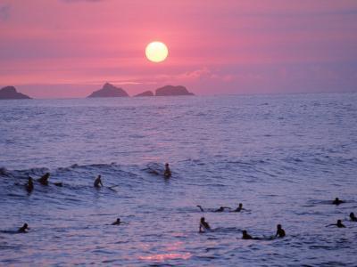 Beach at Sunset, Rio de Janeiro, Brazil-Jeff Dunn-Photographic Print