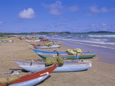 Beach at Tangalla, South Coast, Sri Lanka, Indian Ocean, Asia-Bruno Morandi-Photographic Print