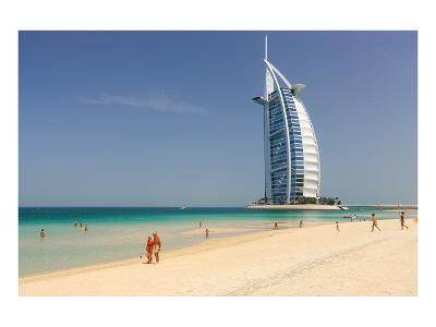 Beach at the Mina A'Salam Hotel Madinat Jumeirah with View of Burj al Arab--Art Print