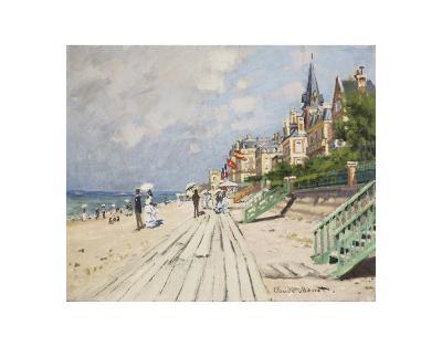 Beach at Trouville, 1870-Claude Monet-Art Print