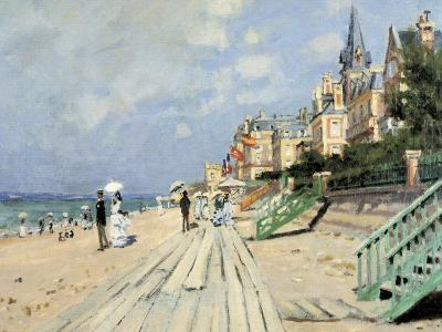 Beach at Trouville-Claude Monet-Giclee Print