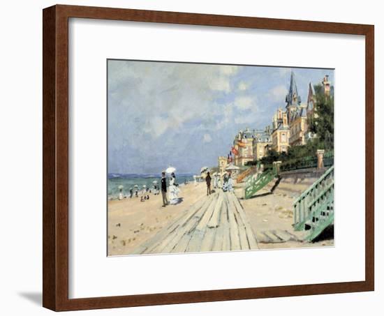 Beach at Trouville-Claude Monet-Framed Giclee Print