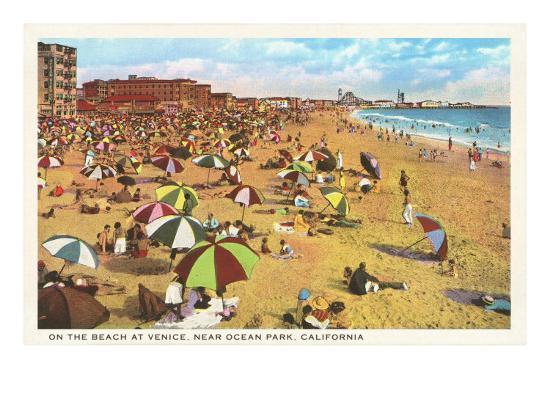 Beach at Venice, Los Angeles, California--Art Print