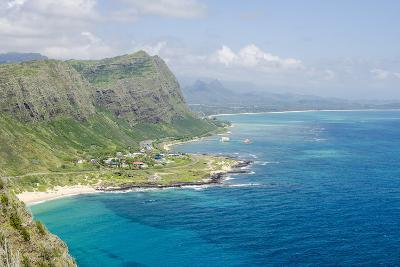 Beach at Waimanalo Bay, Windward Coast, Oahu, Hawaii, United States of America, Pacific-Michael DeFreitas-Photographic Print