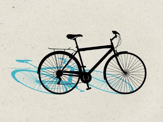 Beach Bike Pop Art--Poster